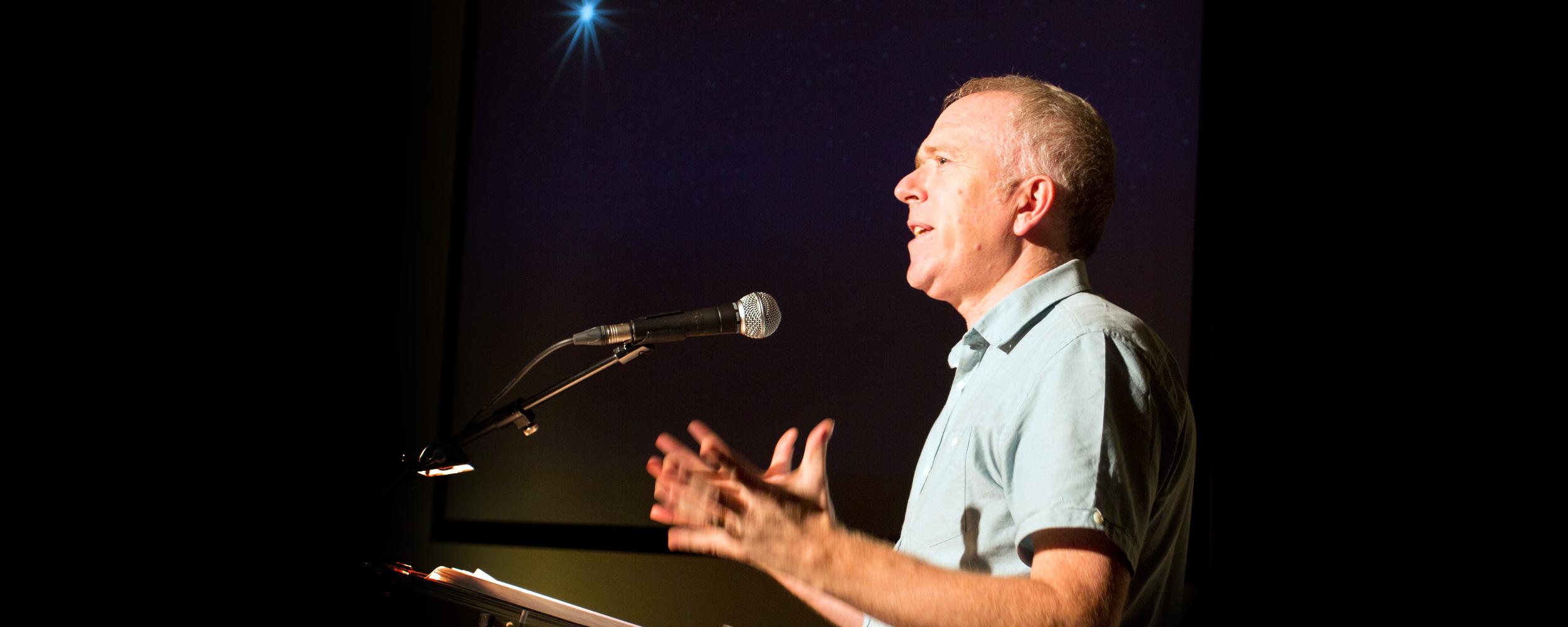 Colin MacPhie speaking