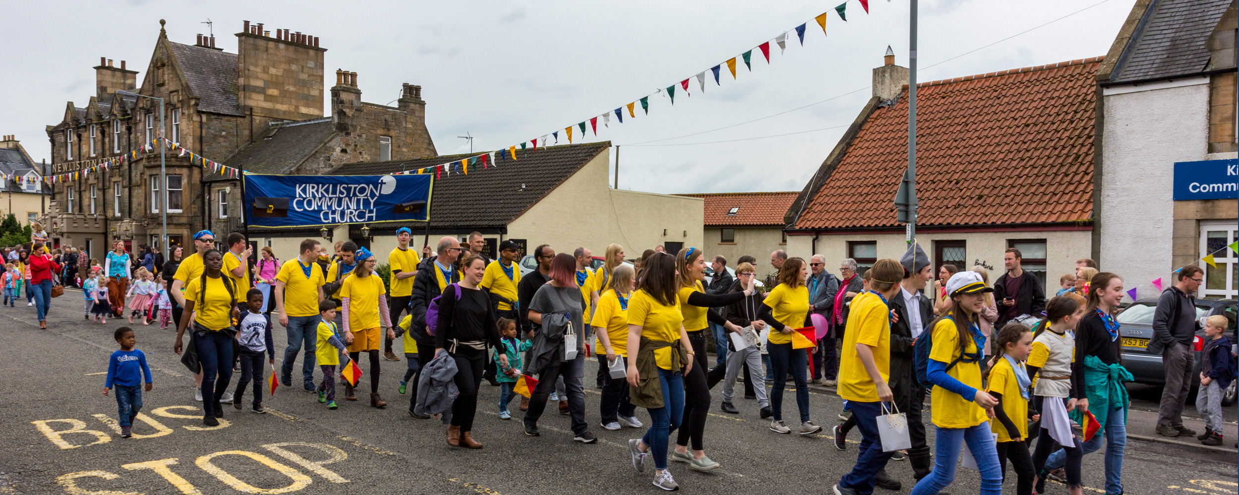 KCC walking in the Kirkliston Gala Day 2019