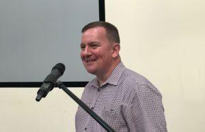 Garry Blair speaking at KCC