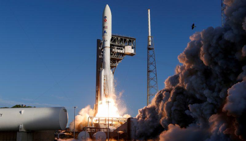 Space rocket take off